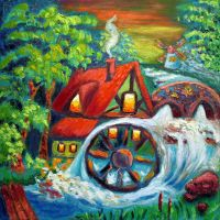 Watermill by ninelkl