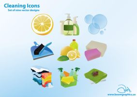 Cleaning Icons by robinweatherall