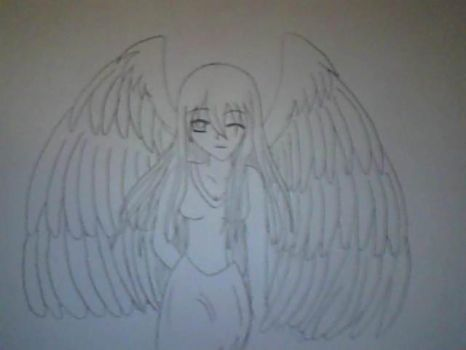 Winking angel!!!! by bananabelly3