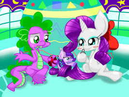 Rarity And Spike Family by LOVEHTF421