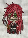 Grell cross stitch by SteelLily94