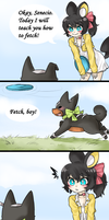 HPM: Amara, that's not how you frisbee by Cute-Saki