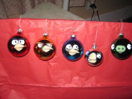 Angry Birds Ornaments by echoXrock