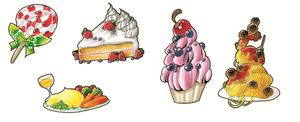 Magnets and Keychains +FOOD+ by nei-no