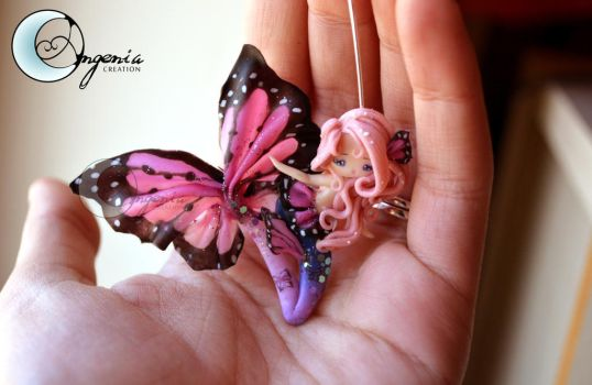 mermaid butterfly pink by AngeniaC