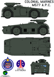Colonial Marines M577 APC by bagera3005