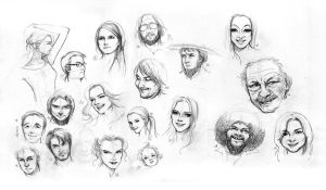 Face Study Drawing page.1 by paeng