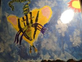 2nd Grade Picture of a tiger i made when i was 7 by EllieDarkside