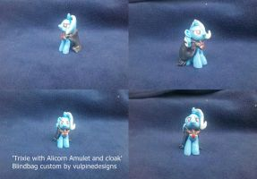 MLP FiM custom: Trixie with Alicorn Amulet + cloak by vulpinedesigns