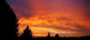 Panoramic Sunset by CloudCastsShadow