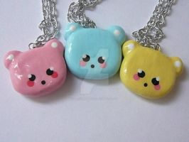 Kawaii Bear Necklaces by The-Killer-Anna