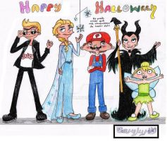 Happy Halloween les desean los hermanos Shortman : by Carylyn