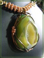 Agate Druzy in Copper and Bronze by BacktoEarthCreations