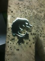 Sterling silver fish pendant by The-Silver-Forge