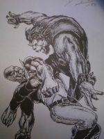 luke cage vs beast by artkid01