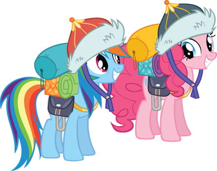 Pinkie Pie Vector and Rainbow Dash Gear by Gen-ma