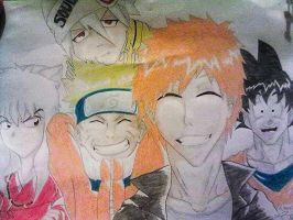 Selfie of the FIVE legends. by ErikaEsther