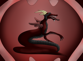 Fallen Wurm (hatched egg adopt #2 ) by CannibalHarpy