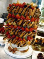 Eclair And Fruit Sculpture by Sliceofcake