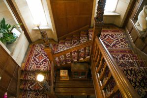 Staircase at Cragside by parallel-pam