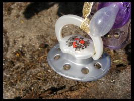 Perfect Pacifier for your rock star baby by Katana-Tate