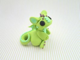 Spiky Green Dragon by KriannaCrafts