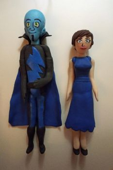 Megamind and Roxanne Clay Figures by DarbyLucy