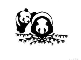 The two pandas by Werebeast