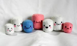 Marshmallow Plushies by EmilyHitchcock