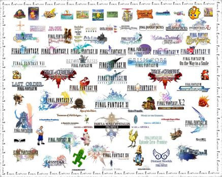 Final Fantasy Logos Wallpaper by ssmb212