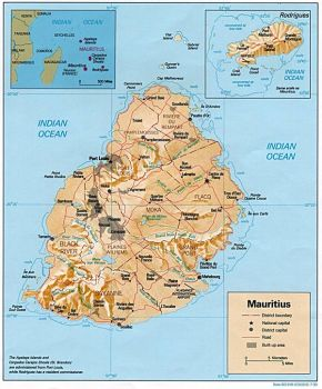 Map of Mauritius by SpikeS72