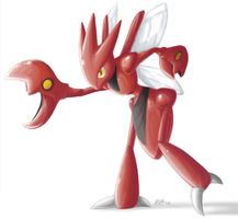Scizor by aquamizuko