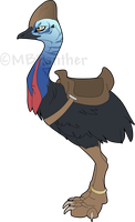Chloe the Cassowary by MBPanther