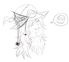 Witch - Lineart by Maina11