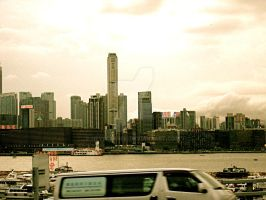 freeway skyline by heyimkaren