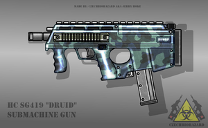 Fictional Firearm: HC-SG419 Submachine Gun by CzechBiohazard