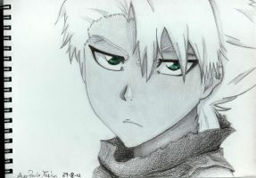 Bleach - Hitsugaya (new haircut) by mangaslover