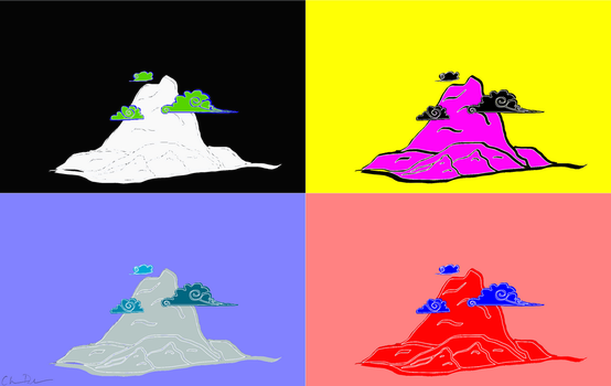 Chinese Mountain Pop Art by mysolublefish