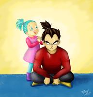 Vegeta and Bra by D-Ilithya