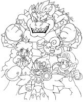 :Super Mario RPG lineart: by SuperCaterina