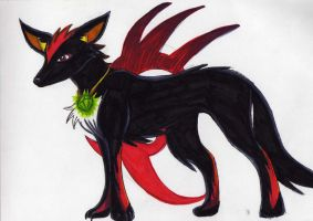 shadow as a wolf by RACHLOVEDRAW