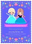 Frozen Pary invitation by minercia