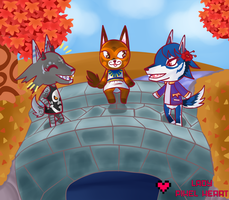 ACNL Villager Group Commission for RuddyKitty by ladypixelheart