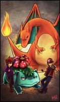 PKMN: RED VS BLUE by cherlye
