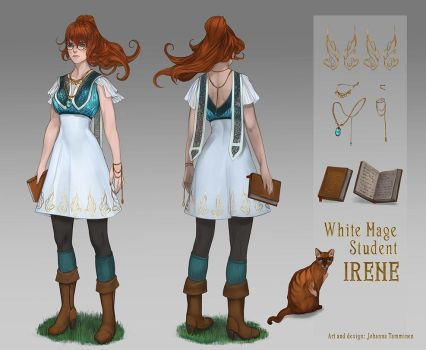 White Mage Student Irene by juuhanna