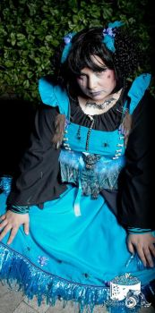 blue voodoo doll pouting  revenge by trixyloupwolf