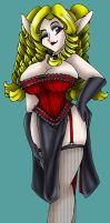 Commission: Gothic Saria by AkuOreo