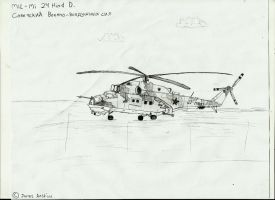 MiL-Mi 24 Hind D (Drawn) by Coffeebean2