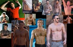 Chris Evans SHIRTLESS collage 2 by slayerxy