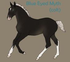 Blue Eyed Myth (design) by SweetStreamStables